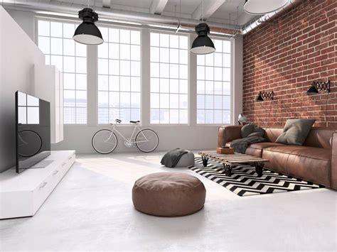 Wohnzimmer Loft Style sofa in braun wohnzimmer mit erdfarben einrichten
