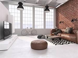 Loft Industrie Design Möbel : wohnzimmer im l ssigen industrial style was f r puristen ~ Bigdaddyawards.com Haus und Dekorationen