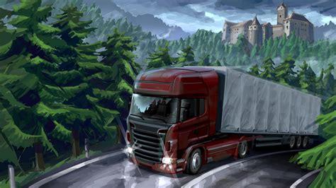 Truck Simulator 2 Wallpaper 4k by Truck Simulator 2 Hd Wallpaper And Background