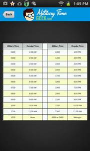 Conversion Chart Hours To Minutes Amazon Com Military Time Converter Chart Appstore For