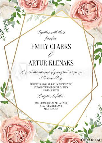 wedding floral invite invtation card design watercolor