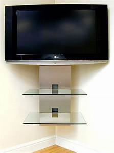 Wall Shelves: Corner Tv Wall Mount With Shelves Corner ...