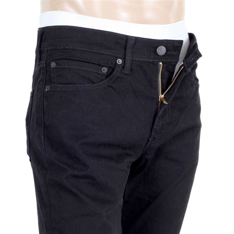 buy mens moonshine levis  slim fit jeans  black