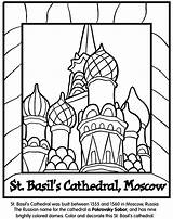 Coloring Cathedral Pages St Moscow Crayola Basil Russia Basils Russian Landmarks Around Sheets Colouring Colored Coloringpagesfortoddlers Kremlin Domes Saint Architecture sketch template
