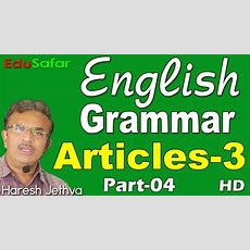 English Grammar In Gujaratiarticles3 Part4 Youtube