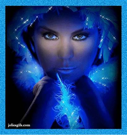 Fantasy Lady Femme Gifs Fontaine Giphy Glitter