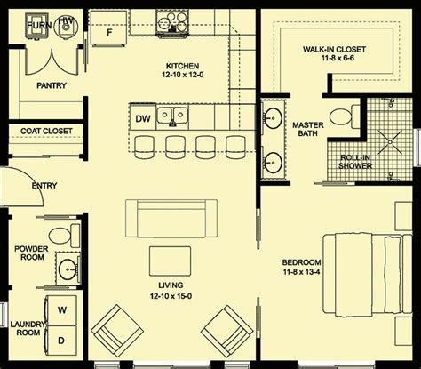 plan mg adorable cottage plan  open layout