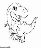 Coloring Dinosaur Tutorial Posters sketch template
