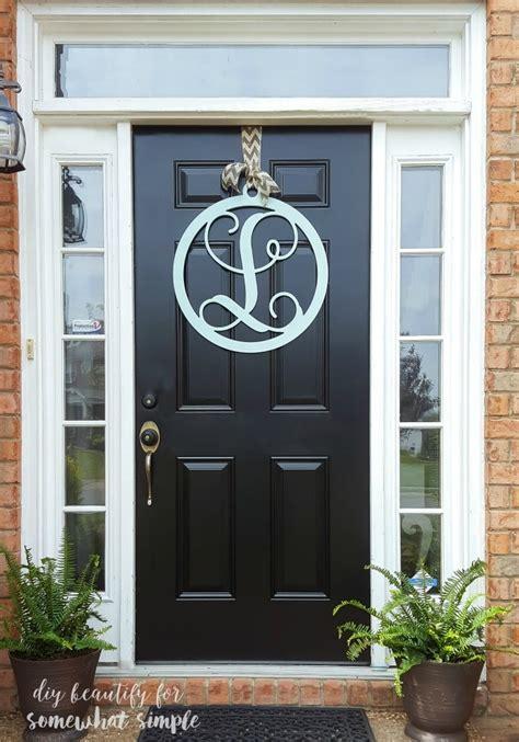 monogram door hanger wreath  simple