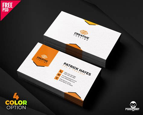 Design Business Cards Free Print Home by Business Card Design Free Psd Set Psddaddy