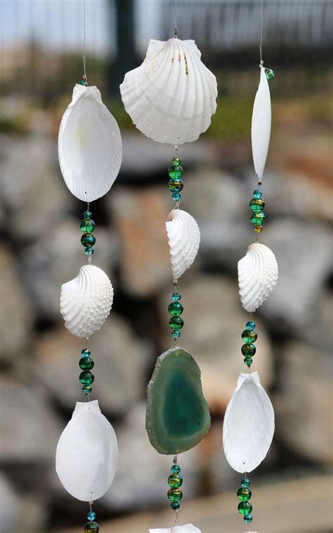 seashell wind chimes ideas  pinterest