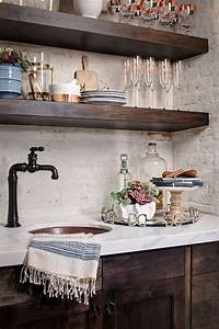 37 beautiful farmhouse interior designs the home for Best brand of paint for kitchen cabinets with copper wall art home decor