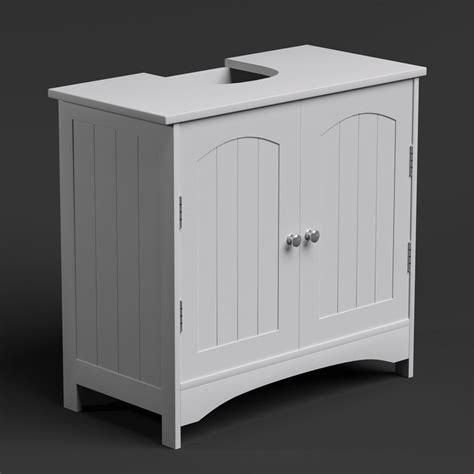 free standing wall white bathroom storage cabinet unit