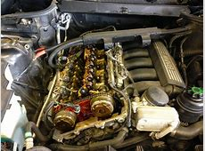 BMW N52 Engine – Camshaft Cover and Valvetronic Removed
