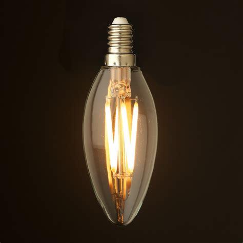 4 led light bulbs 4 watt dimmable filament led e14 candle bulb