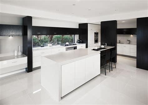 white kitchen with tile floor using high gloss tiles for kitchen is interior 1844