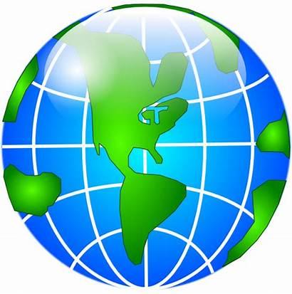 Globe Continents Clip Clipart Clker Domain Vector