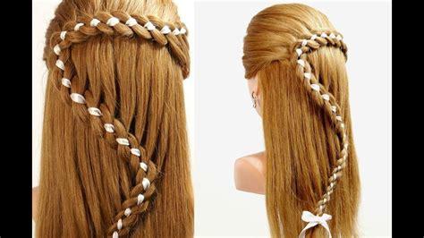 hairstyles  long hair  strand braid hair  ribbon