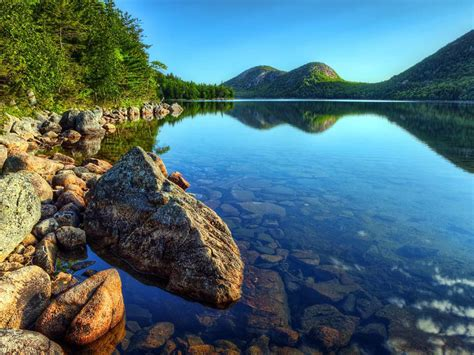 acadia national park maine jordan pond wallpaper hd