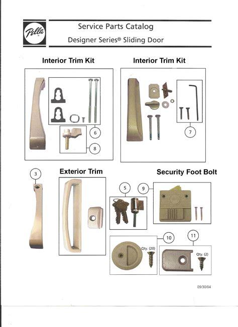 pella door parts interior sliding door pull handle with thumbturn choose