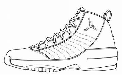 Air Jordan Nike Drawing Template Jordans Sneaker