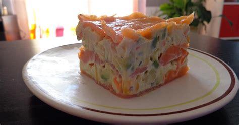 recette mille feuille de saumon surimi avocat  mais