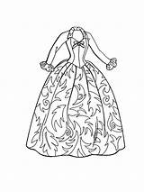 Coloring Pages Barbie Doll Clothes Dresses Gown Christmas Ball Drawing Coloringsky Getdrawings Printable Dressed Carol Getcolorings Whitesbelfast sketch template
