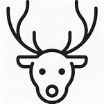 Icon Reindeer Rudolph Horn Icons Deer Outline