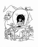 Wagon Coloring Pages Oregon Trail Train History Pioneer Covered American Printables Century Expansion Drawing 19th Usa Whitman America Clipart 1843 sketch template