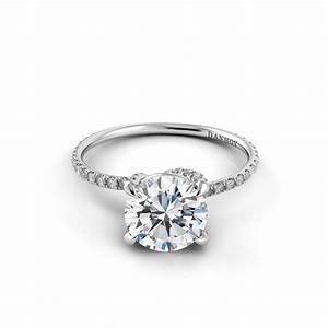Danhov Eleganza Diamond Embedded Twisted Prong Engagement