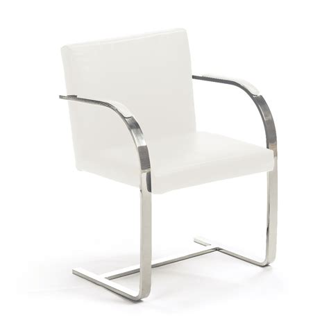 brno white leather chair buy leather chairs dining