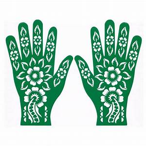 Henna Muster Schablone : henna stencil for tattoos hand self adhesive rls165 oriental style ~ Frokenaadalensverden.com Haus und Dekorationen