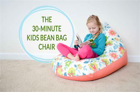 sew  kids bean bag chair   minutes   craft