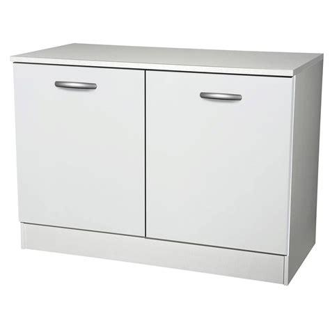 meuble cuisine blanc meuble de cuisine bas 2 portes blanc h86x l120x p60cm
