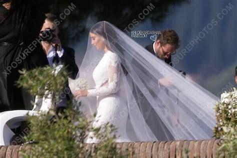 Kim Kardashian & Kayne West Wedding Photos