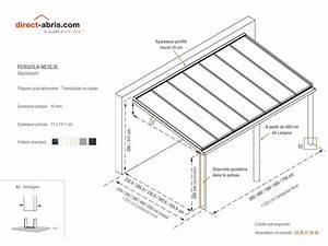 Fabriquer Une Pergola En Alu : pergola aluminium neolis profondeur 4 5m 7x4 5m direct ~ Edinachiropracticcenter.com Idées de Décoration