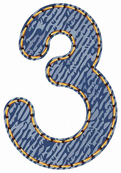 Clipart Three Jeans Number Numbers Circle Clip