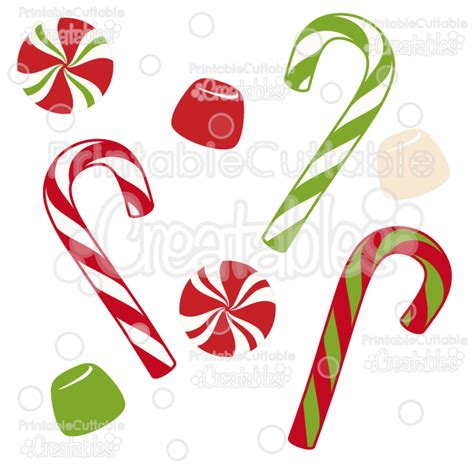 Christmas Candy Free Svg Cut Files & Clipart