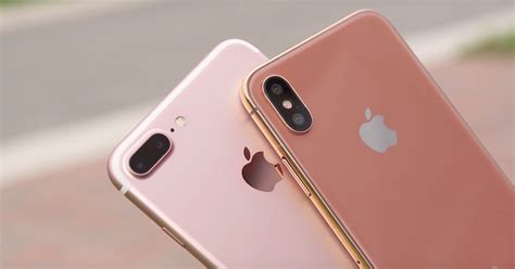 iphone pink gold new high res video shows off copper gold iphone 8 from Iphon