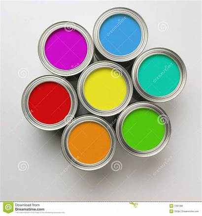 Paint Cans Circle Royalty Colorful Arranged Dreamstime