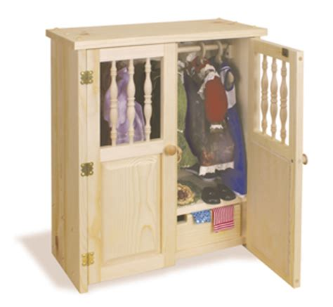 American Armoire Plans by Doll Houses Playsets Doll Armoire Plans Woodcraft Pattern