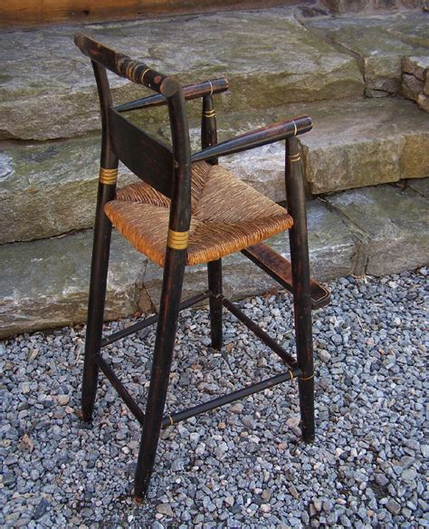 8117 19th c childs painted high chair for sale antiques