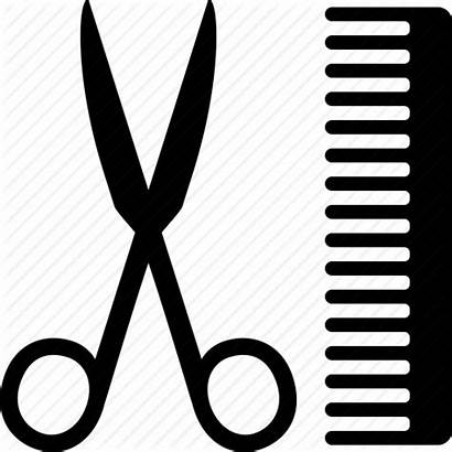 Comb Scissors Barber Clipart Icon Grooming Svg