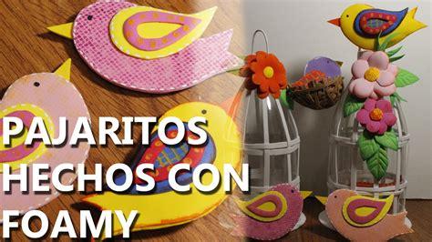 manualidades para decorar tu cuarto como hacer un pajarito con foami goma eva manualidades
