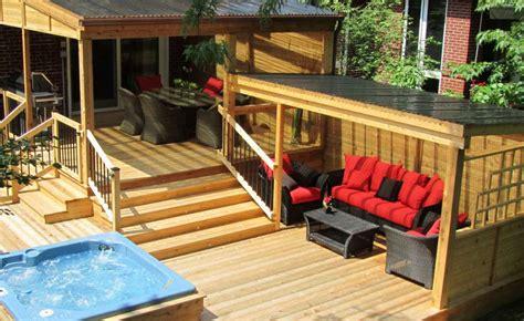 idee de patio en bois construction patio cl 244 ture en bois montreal patios et cl 244 tures beaulieu