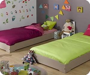 Lit enfant empilable blanc 90x190 cm et matelas lit pour for Deco chambre enfant avec achat matelas latex 90x190