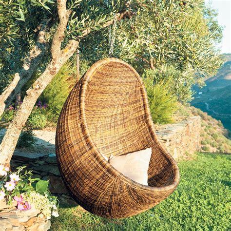 fauteuil de jardin suspendu rotin jungle maisons du