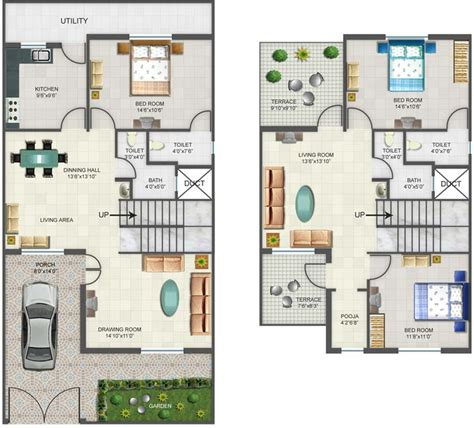 row home plans orchids kovai row houses floor plans 17 best images about