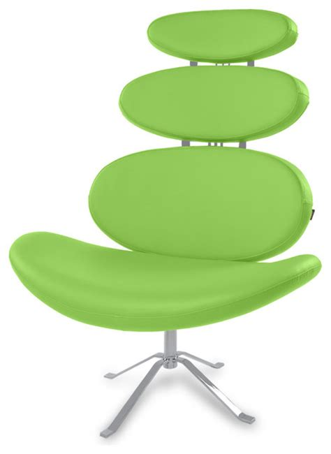pebble swivel occasional chair lime green contemporary