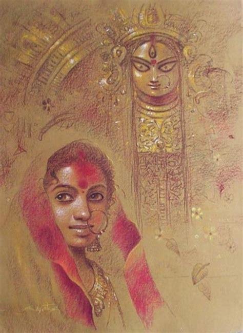 painting  subrata das bengal durga puja hindu